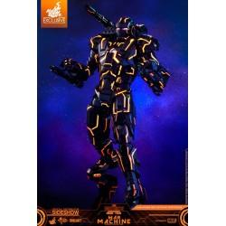 Neon Tech War Machine Hot Toys Exclusive Iron Man 2