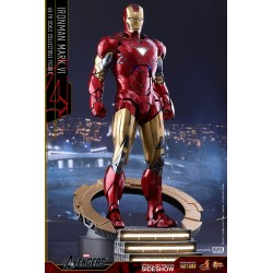 Marvel Los Vengadores Figura Movie Masterpiece Diecast 1/6 Iron Man Mark VI