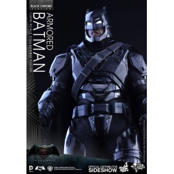 Batman v Superman Dawn of Justice Figura MMS 1/6 Armored Batman Black Chrome Ver.