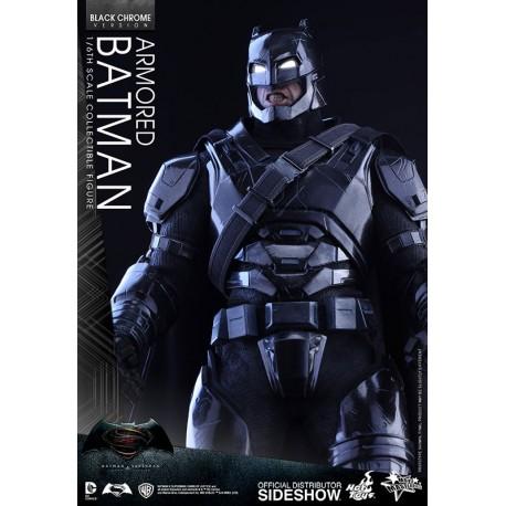 Batman v Superman Dawn of Justice Figura MMS 1/6 Armored Batman Black Chrome Ver.