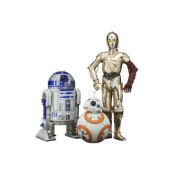 Star Wars Episode VII Pack 3 Estatuas ARTFX 1/10 C-3PO & R2-D2 & BB-8