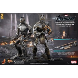 Pack de 2 Figuras Movie Masterpiece 1/6 Chitauri Commander y Footsoldier