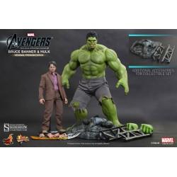 Pack de Figuras Movie Masterpiece 1/6 Bruce Banner & Hulk