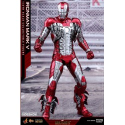 Iron Man 2 Figura Movie Masterpiece Diecast 1/6 Iron Man Mark V