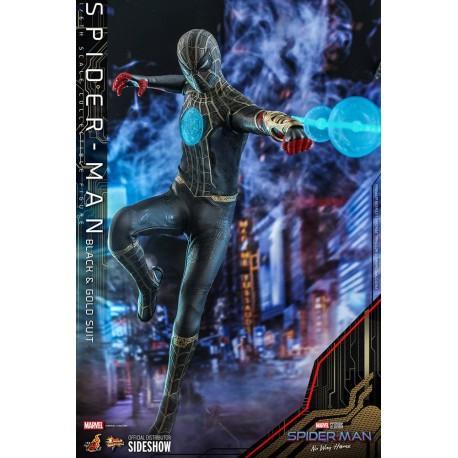 Spider-Man (Black & Gold Suit) - Spider-Man: Sin camino a casa Figura Movie Masterpiece 1/6