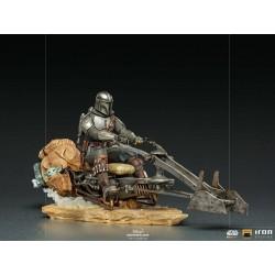 Mandalorian on Speederbike Star Wars The Mandalorian Estatua 1/10 Deluxe Art Scale