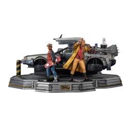 Full Set Deluxe: DeLorean + Marty McFly + Doc Brown Regreso al Futuro II Estatuas 1/10 Art Scale