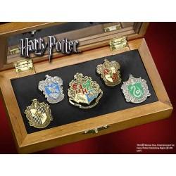 Harry Potter 5 Chapas Collección Casas de Hogwarts