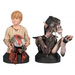 Star Wars Pack de 2 Bustos 1/6 Sebulba y Anakin 14 cm