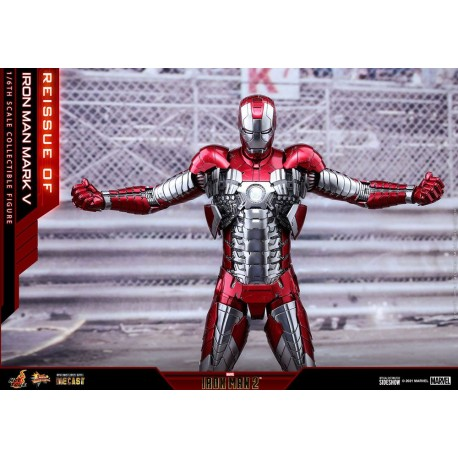 Iron Man Mark V - Iron Man 2 Figura Movie Masterpiece Series Diecast