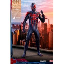 Spider-Man 2099 Black Suit HT Exclusive Marvel's Spider-Man Figura Video Game Masterpiece 1/6