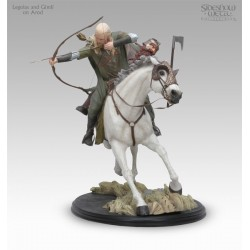 Legolas and Gimli on Arod Polystone Statue by Sideshow Collectibles LOTR