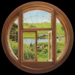 Pegatina Vinilo Hobbit Window