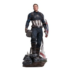 Captain America Deluxe Version Vengadores: Endgame Estatua Legacy Replica 1/4