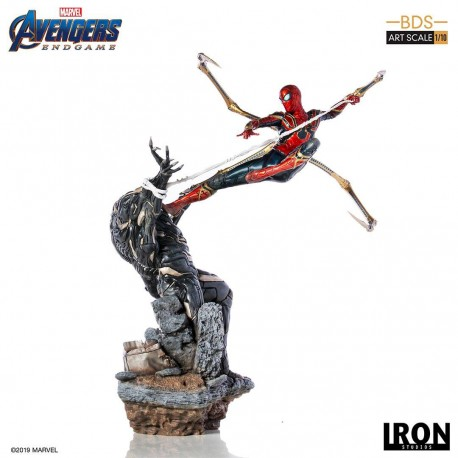 Iron Spider vs Outrider Vengadores: Endgame Estatua BDS Art Scale 1/10